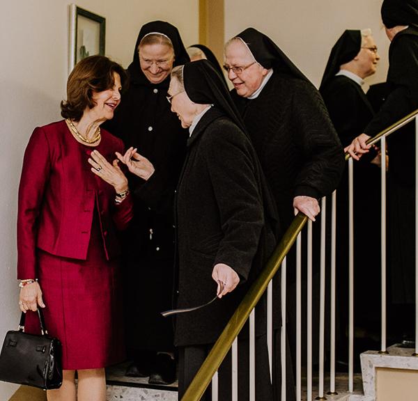 Königin Silvia bei unseren Ordensschwestern